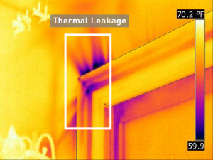 Figure 2 – Thermal Leakage detected through embedded transfer learning